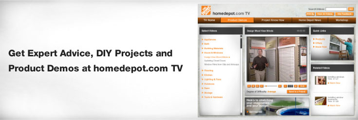 Home depot projects on tv